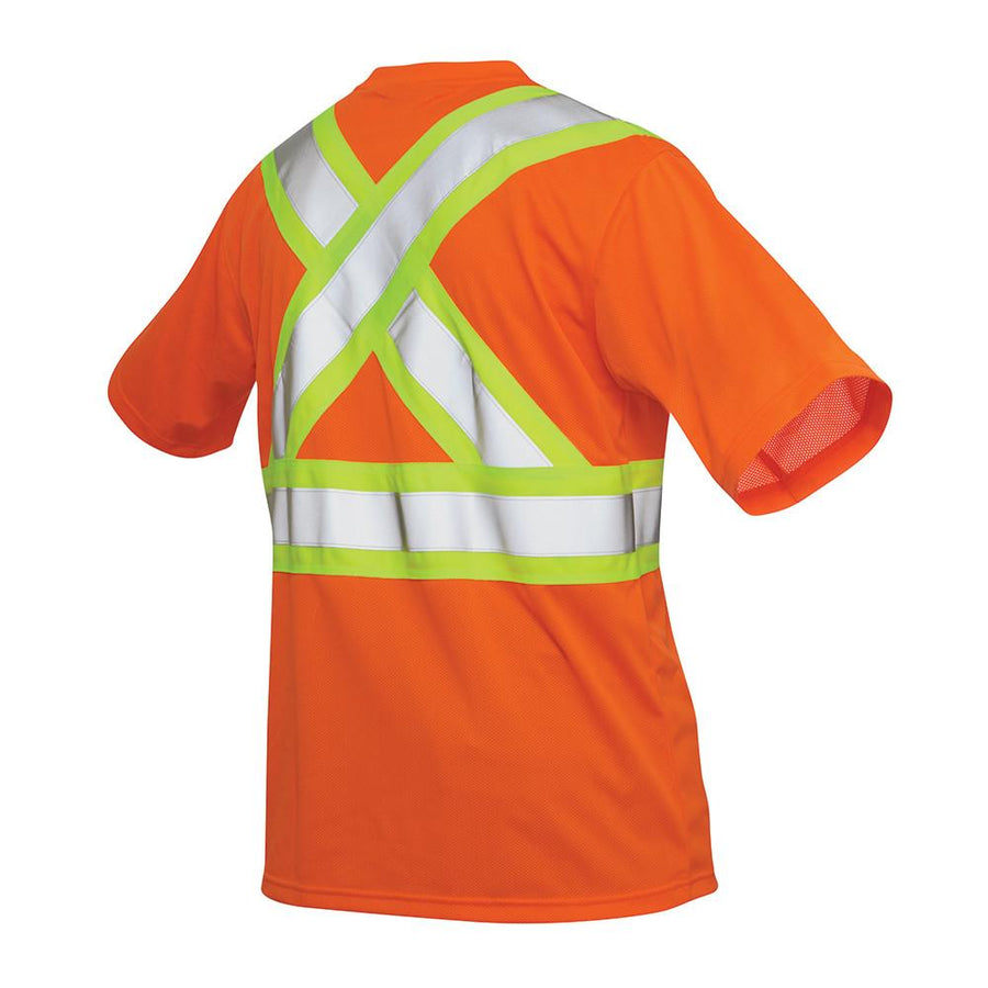 Tough Duck s392 Hi Vis T-Shirt with Pocket | Orange | S-5XL Hi Vis Work Wear - Cleanflow