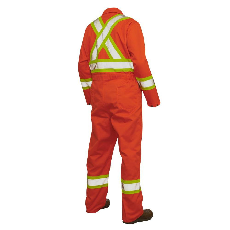 Tough Duck S792 Unlined Hi Vis Poly/Cotton Coveralls | Orange | XS-5XL Hi Vis Work Wear - Cleanflow