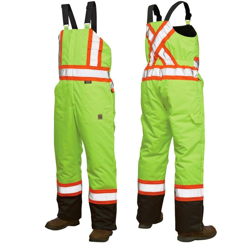 Tough Duck s798 Insulated Hi Vis Bib Overall | Yellow | Limited Size Selection Hi Vis Work Wear - Cleanflow