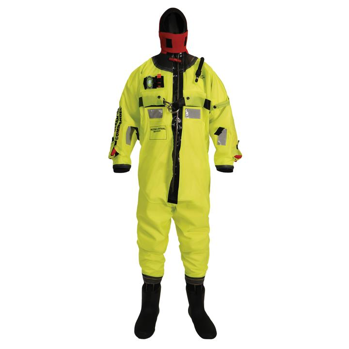 Mustang Survival Ocean Commander Immersion Suit | Yellow | Universal Adult Personal Flotation Devices - Cleanflow