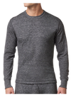 Stanfield's 8813 Two-Layer Wool Blend Long Sleeve Shirt | Charcoal | Sizes S - 3XL | Pack of 2 Pairs Work Wear - Cleanflow