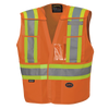 Pioneer Hi-Viz Drop Shoulder Tear-Away Vest | Orange | Multi-Fit Design Hi Vis Work Wear - Cleanflow