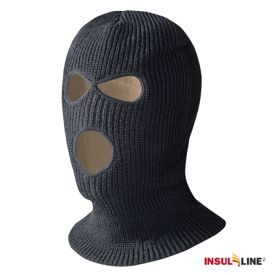 Pioneer Lined Acrylic Knit 3-Hole Balaclava | Black Flame Resistant Work Wear - Cleanflow