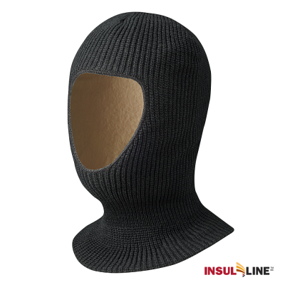 Pioneer Lined Acrylic Knit 1-Hole Balaclava | Black Work Gloves and Hats - Cleanflow