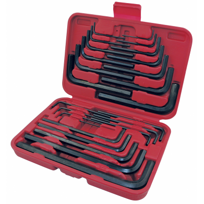 Jet Hex Key Wrench Set - SAE/Metric - 30 Piece Mechanic Tools - Cleanflow