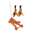 Strongarm 2-1/2 Ton Service Jack Plus 3 Ton Vehicle Stand Set Shop Equipment - Cleanflow