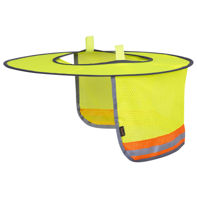 Pioneer Ranger Style Hi-Vis Hard Hat Mesh Sun Shade | Yellow Personal Protective Equipment - Cleanflow