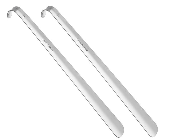 Long Metal Shoe Horn - 16.5 inches, 100% Stainless Steel
