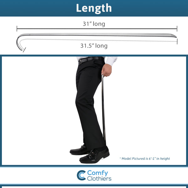 Extra, Extra Long Metal Shoe Horn - 31 inches, 100% Stainless Steel