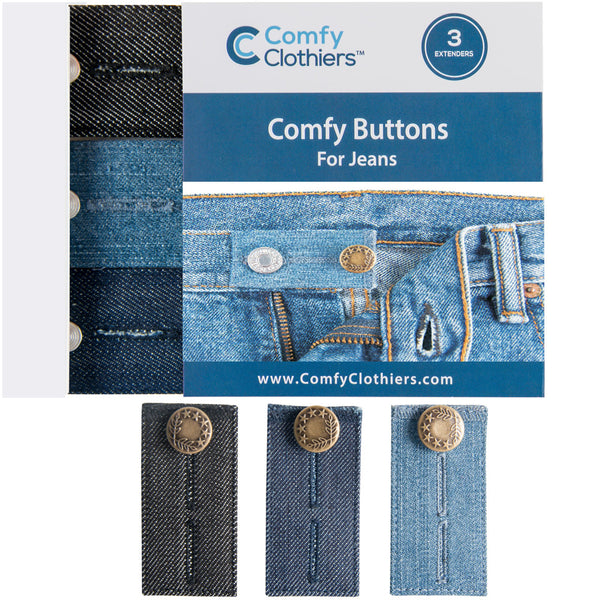 Comfy Buttons for Jeans (3-Pack)