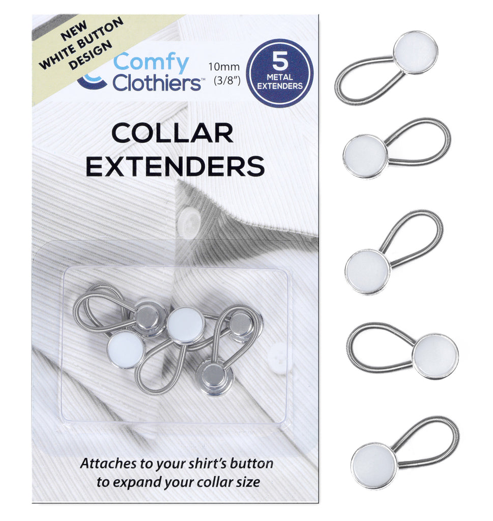 White Collar Extenders (5-Pack)