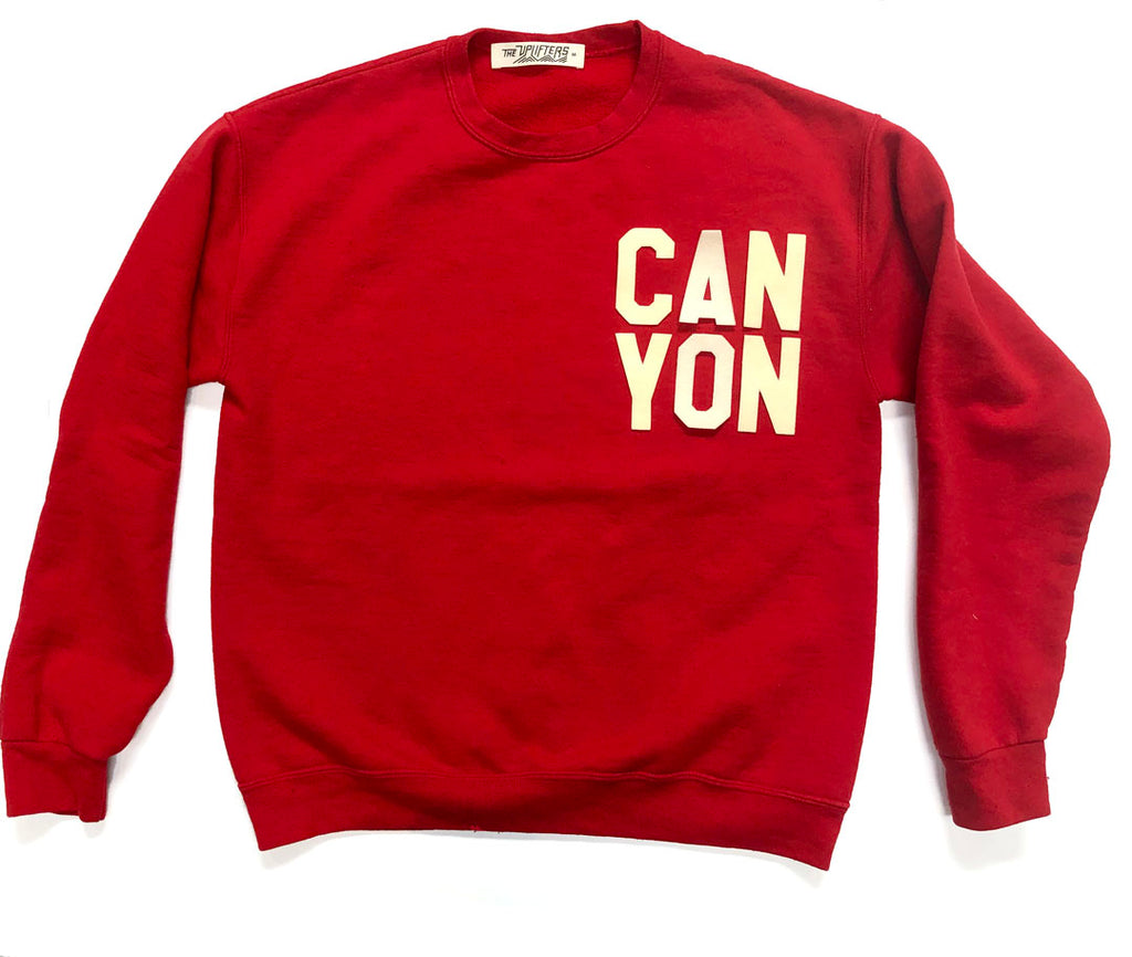 Adult CAN YON crew sweatshirt - RED