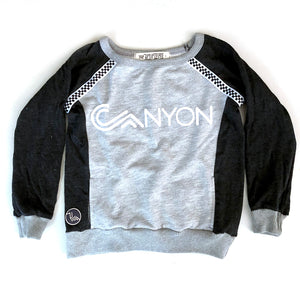 Kids wide neck pullover - two tone