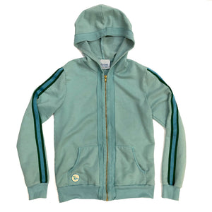 G2.  Adult Latimer Zip Hoodie- Pool Blue