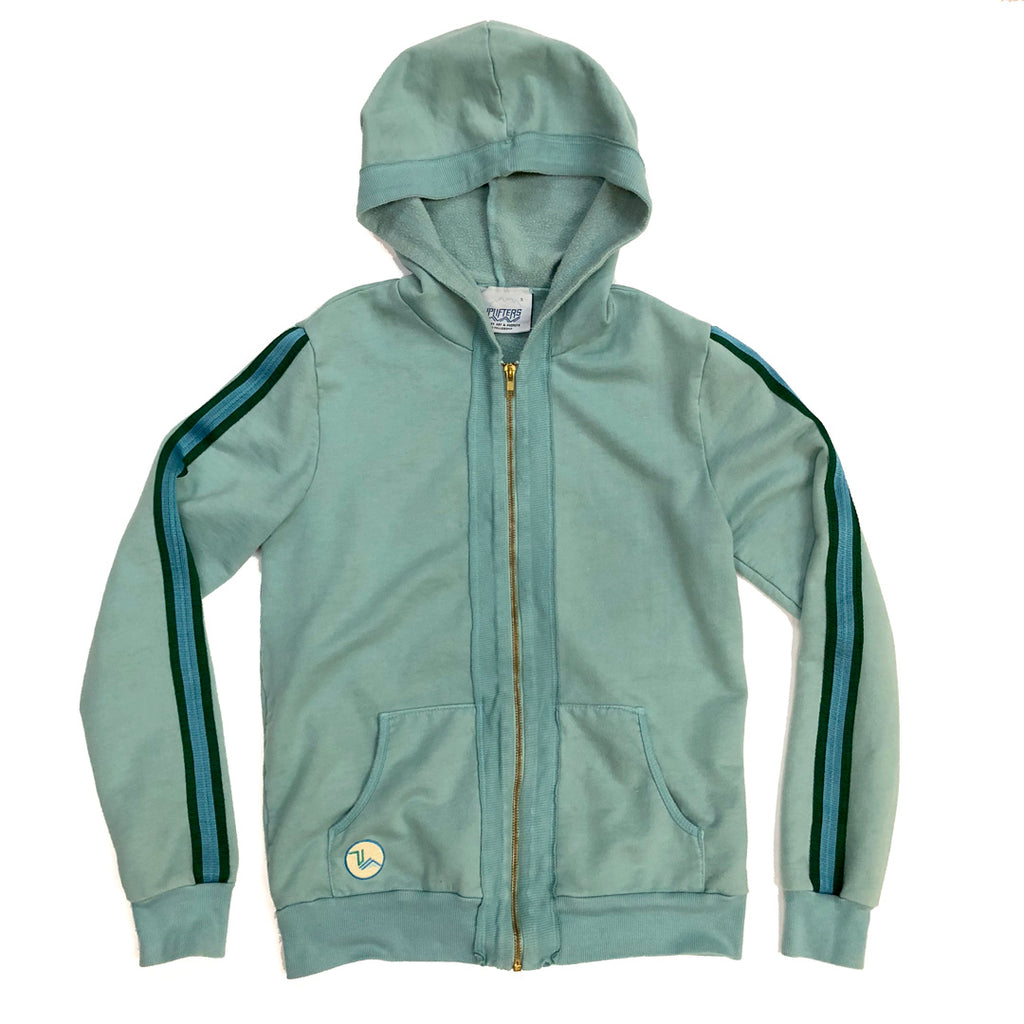 A2.  Kids Latimer Zip Hoodie - Pool Blue