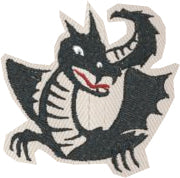 Cascadia chenille dragon patch