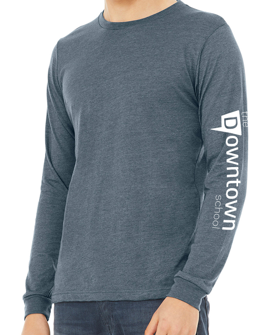 Downtown Long Sleeve Pullover - heather slate