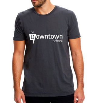 Downtown crew neck tee - dark grey