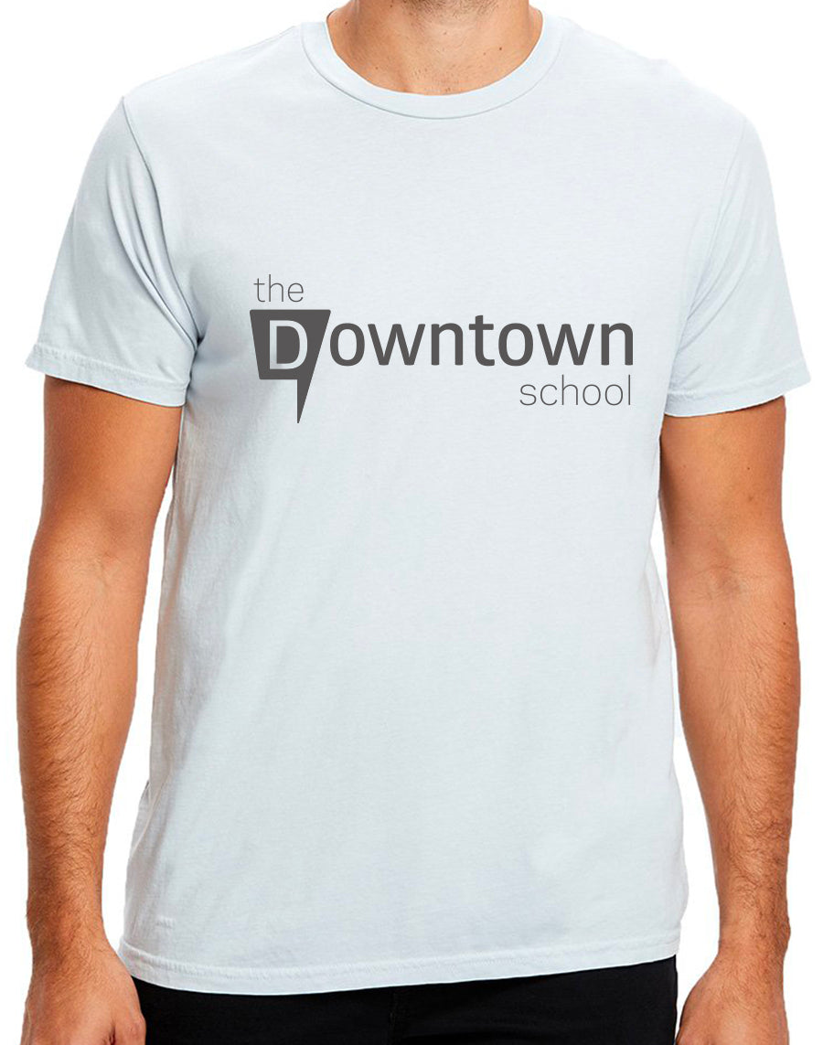 Downtown crew neck tee - dusty blue