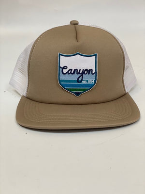 Canyon Crest patch trucker
