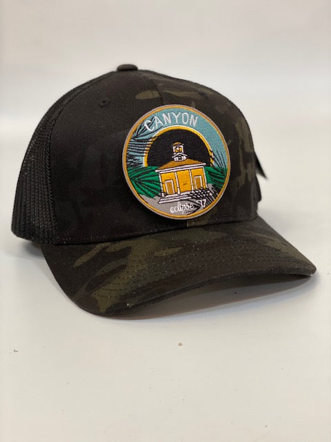 Canyon schoolhouse patch Camo trucker