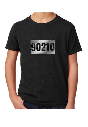 "sequins reverse to ""90210"""
