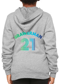 Brawerman Cool Ombre Olympic Graphic Hoodie  - Adult & Youth