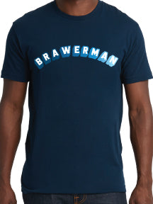 Brawerman Ombre Block Print Tee-Youth & Adult