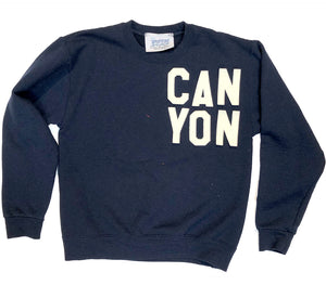 Youth CAN YON vintage wash sweatshirt - NAVY