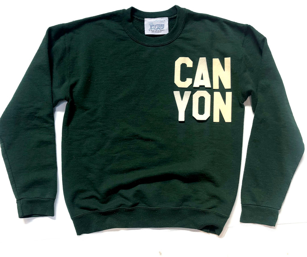 Adult CAN YON crew sweatshirt - FOREST