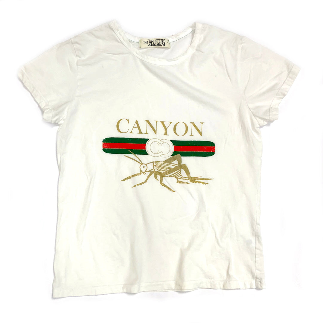 M2.  Womens Perfect Tee - Canyon Cricket - White