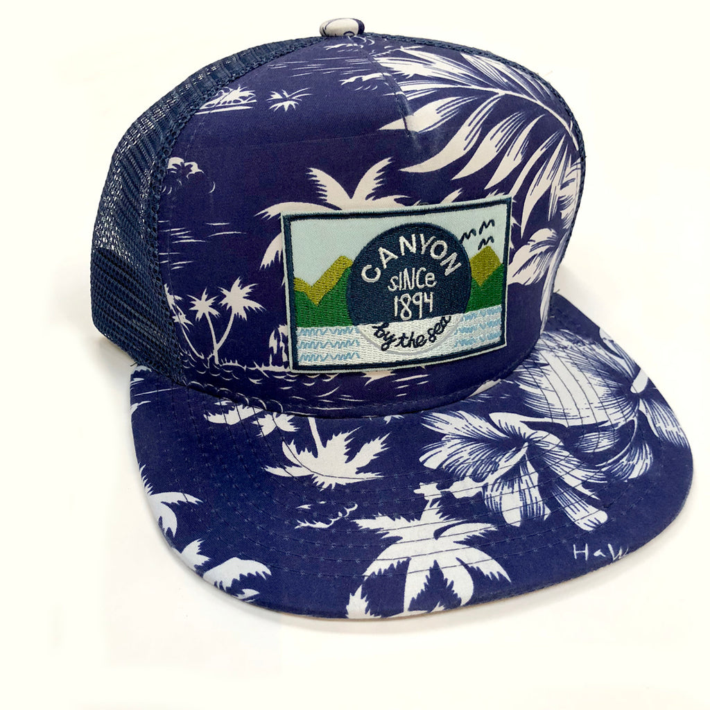 P3.  Trucker Hat - Tropical flat bill