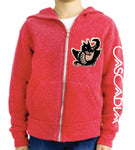 Red Cascadia Zip Hoodie - youth