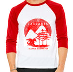 Adult - Red Raglan tee