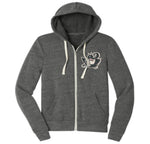 Charcoal Dragon Zip Hoodie - adult