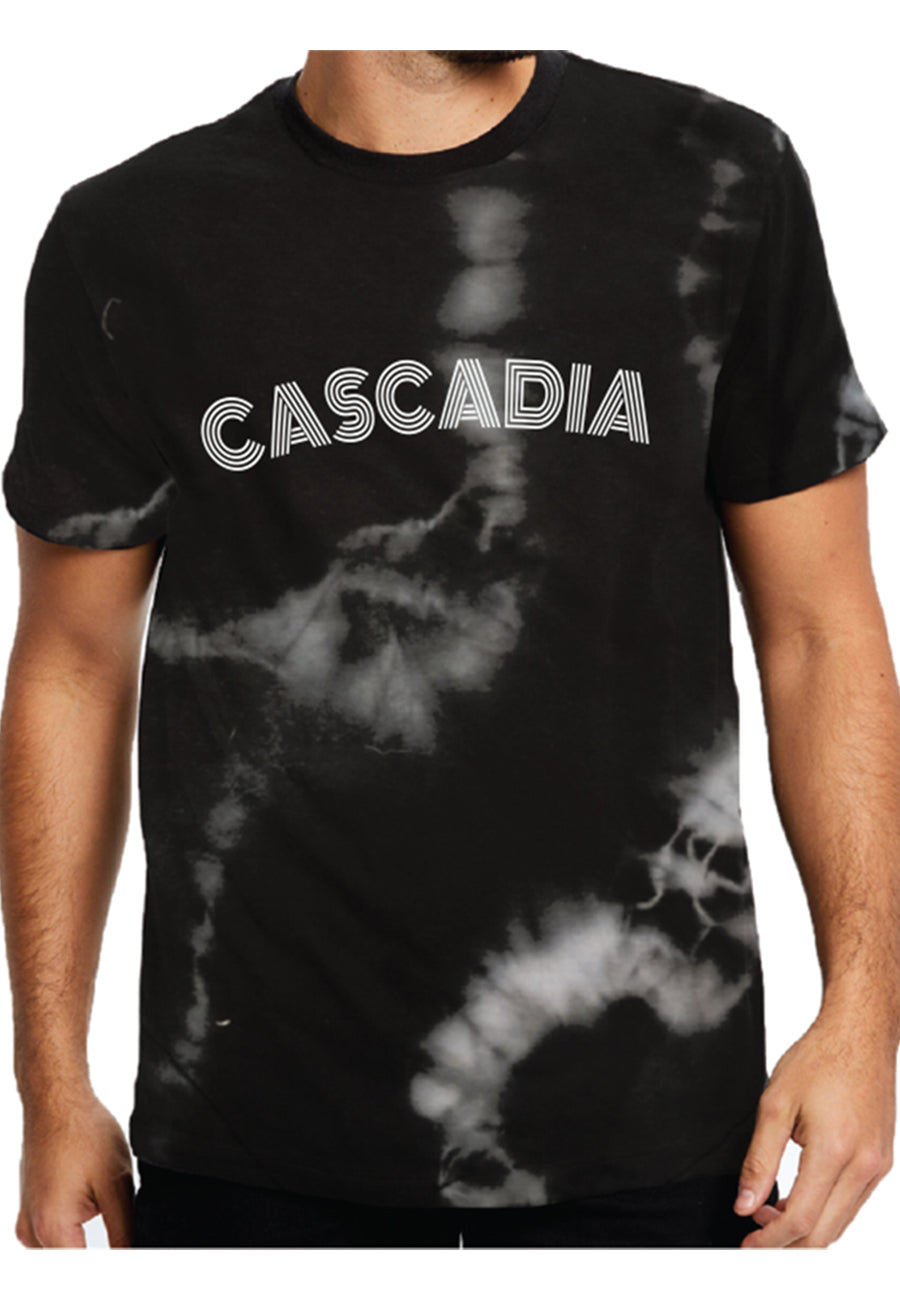 Dark Charcoal Tie Dye Tee - Adult