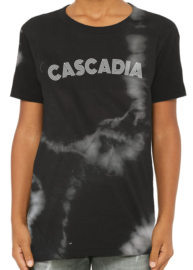 Dark Charcoal Tie Dye tee - Youth