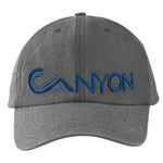 Dad Hat Grey hemp cotton with embroidered Canyon blues