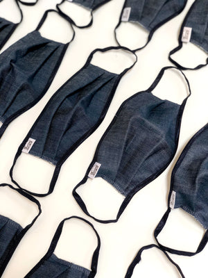 Chambray Denim Face Mask 20 pack