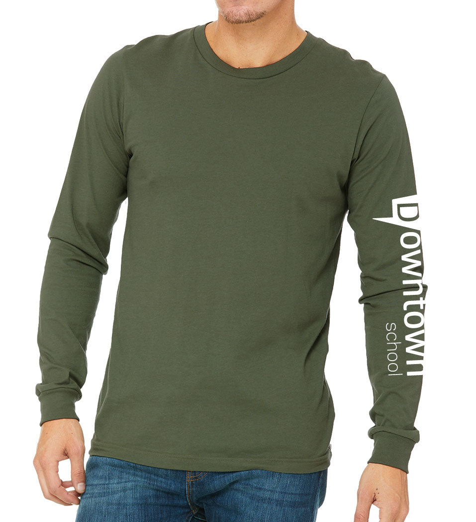 Unisex Long Sleeve Pullover - olive