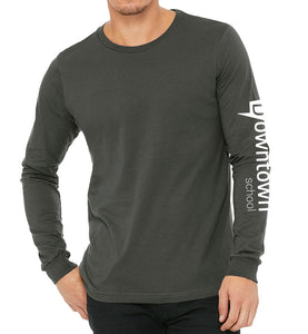 Unisex Long Sleeve Pullover -  charcoal