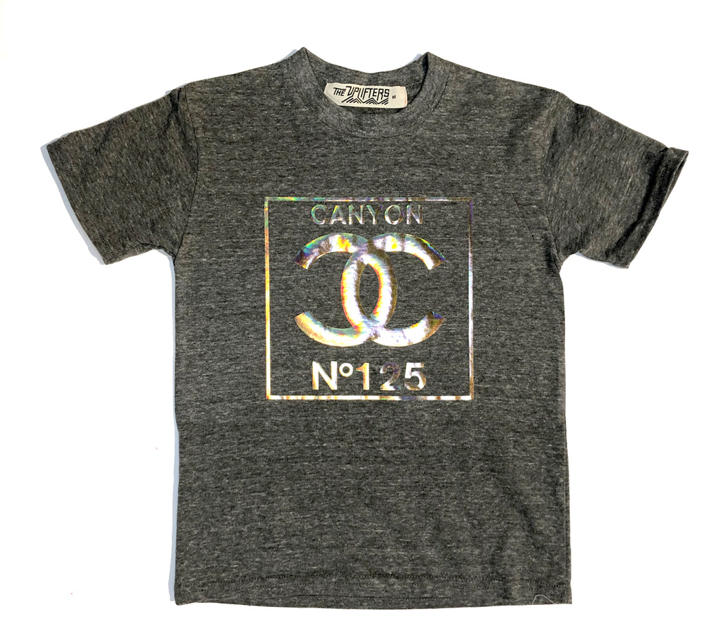 L. Double C's 125 years heather grey tee