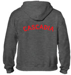 Charcoal Cascadia Zip Hoodie - youth