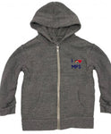 Youth Heart Hoodie - grey