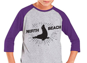 D. YOUTH Raglan tee - purple or black