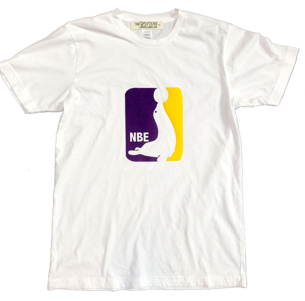 C2. YOUTH White NBE Logo tee