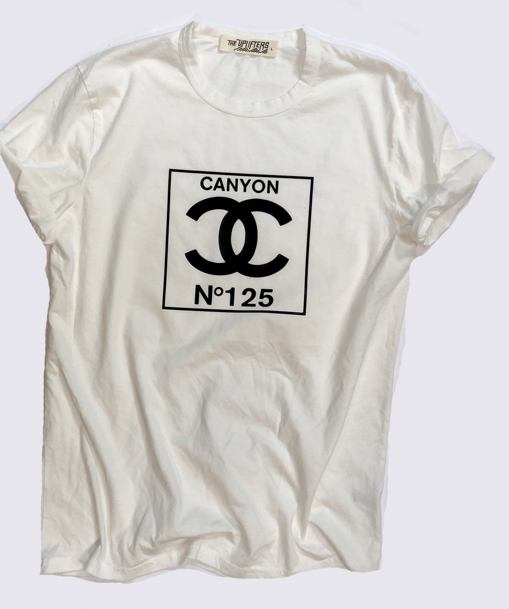 S. Adult double C tee - washed white
