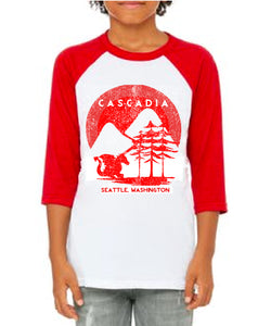 Youth -  Red Raglan Tee