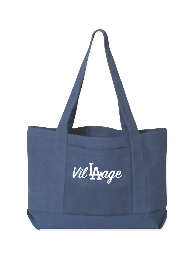 E. Navy oversized canvas Boat Tote