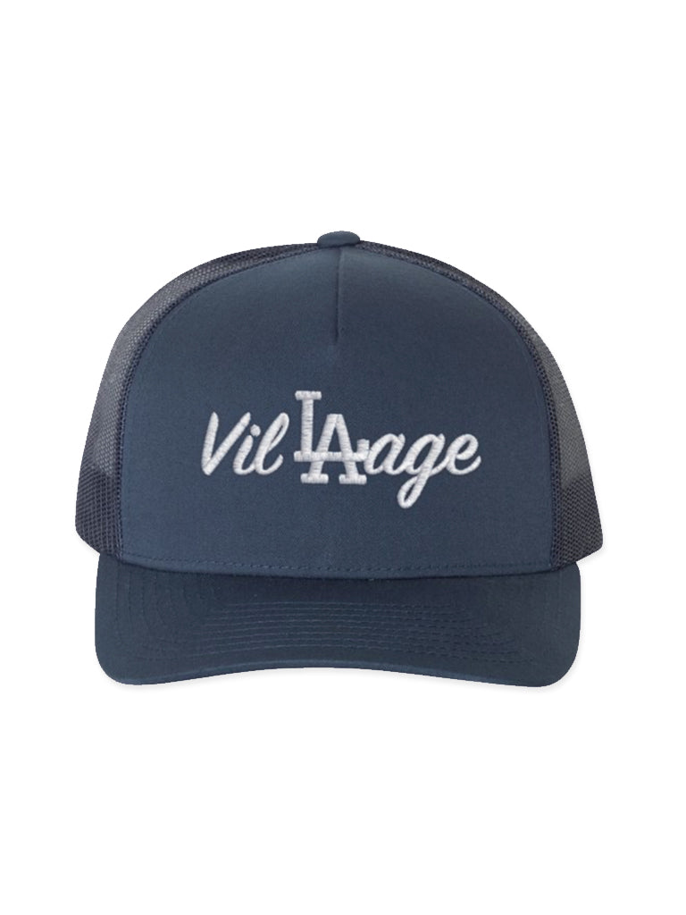 A. Navy Blue LA Trucker
